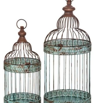 Bloomsbury Vintage Blue Bird Cage