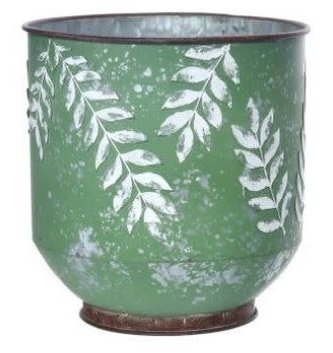 Metal Embossed Fern Pot (2 sizes)