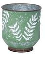 Metal Embossed Fern Pot (2 sizes)