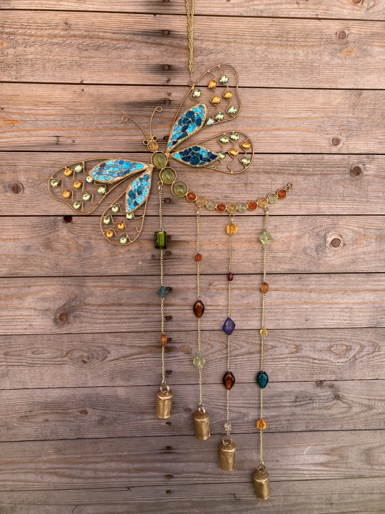 Dragonfly Beaded Wind Chime