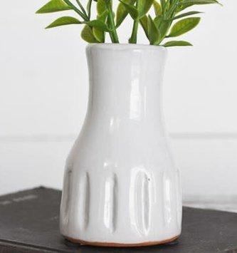 Handmade Terra Cotta White Vase (2-Sizes)