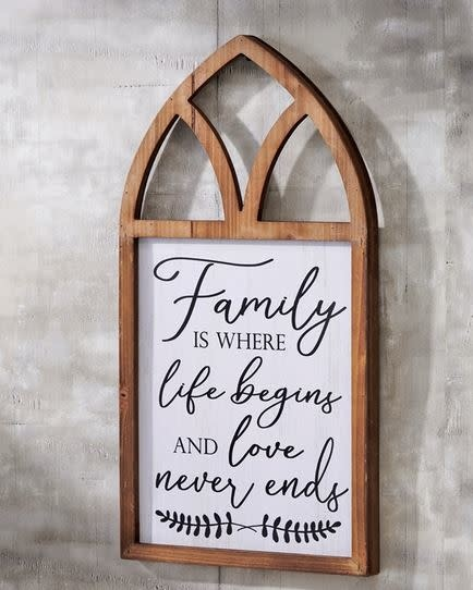 Family Cathedral Sign