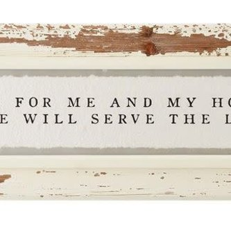 As For Me & My House Framed Print