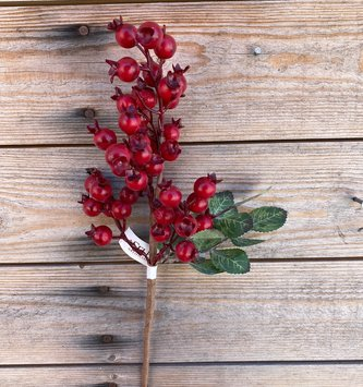 """14"""" Rosehip Red Berry  Pick"""