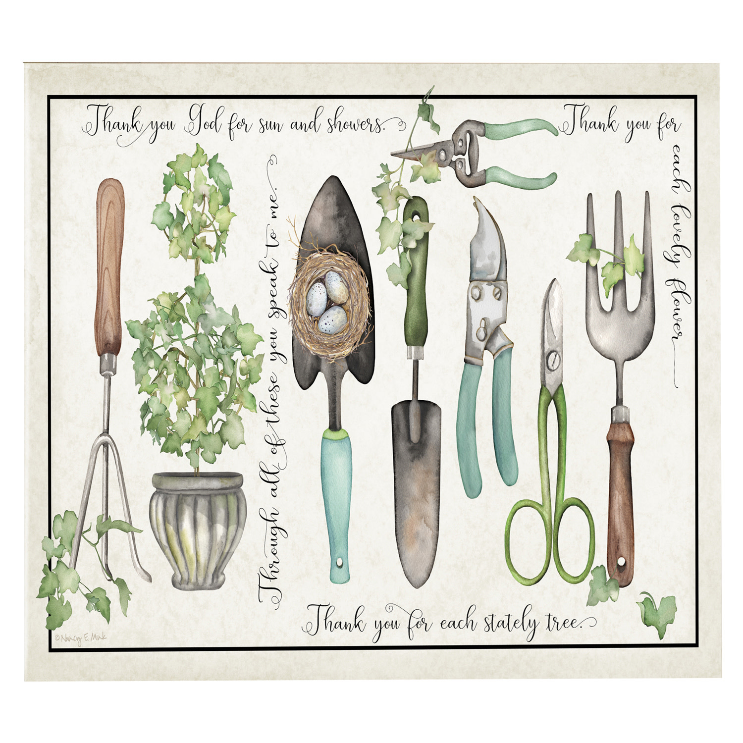 Indoor/Outdoor Potting Shed Canvas