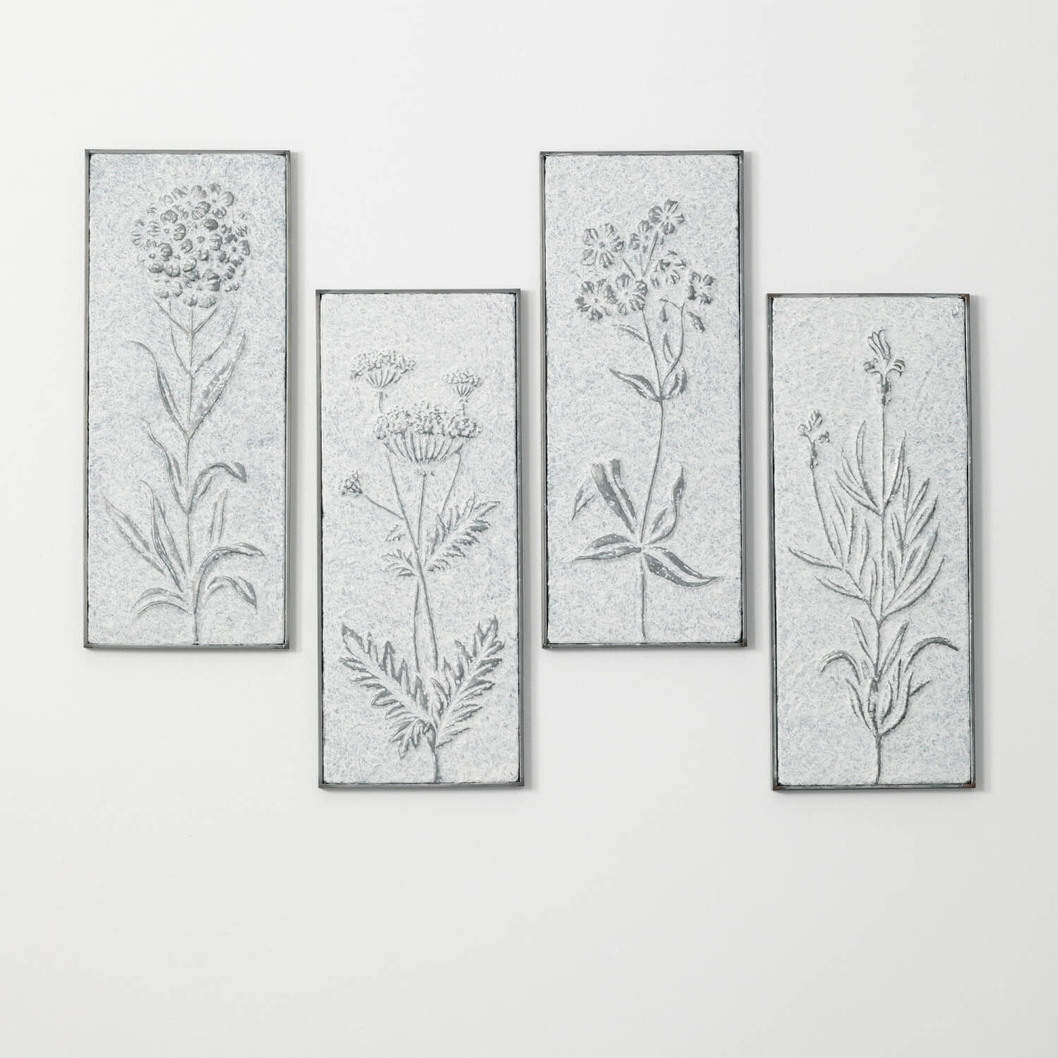 Galvanized Floral Wall Art (4-Styles)