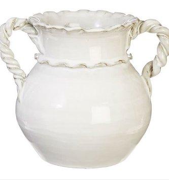 Twisted Handle Pottery Vase