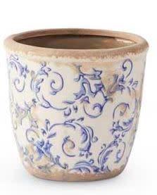 Vintage Blue & White Pot (3-Sizes)