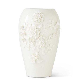 """14"""" Ceramic 3-D Floral Vase"""