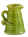 Small Green Crackle Pitcher