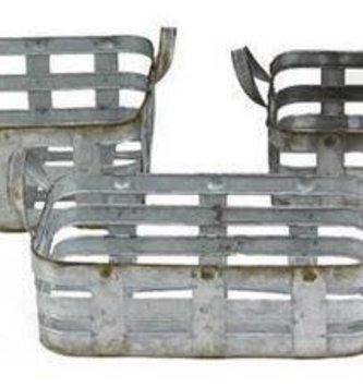 Rectangle Metal Woven Basket (3-Sizes)
