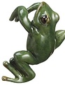 Green Frog Pot Hanger