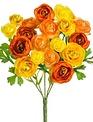 Orange Yellow Mini Ranunculus Bush