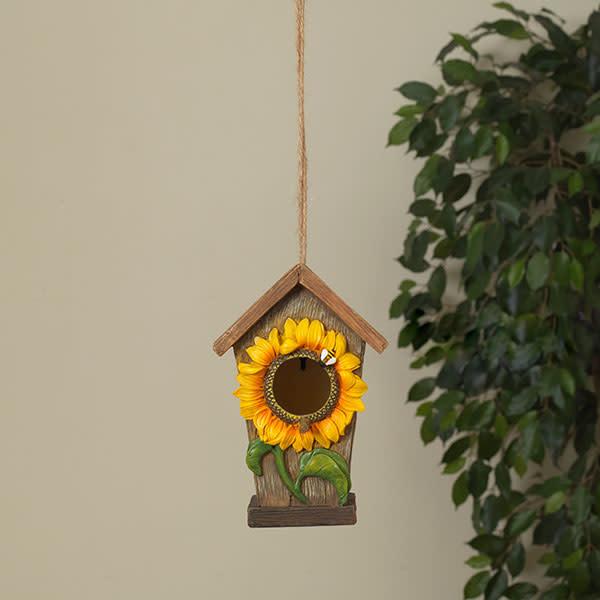 Small Hanging Sunflower Birdhouse
