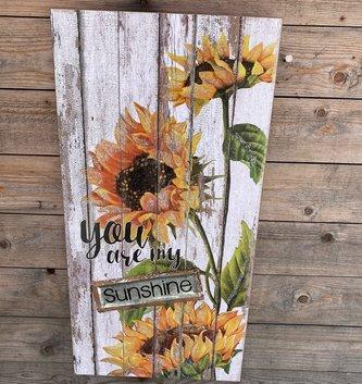You are my Sunshine Sunflower Wall Art