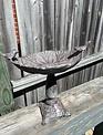 Antique Gray Metal Bird Feeder