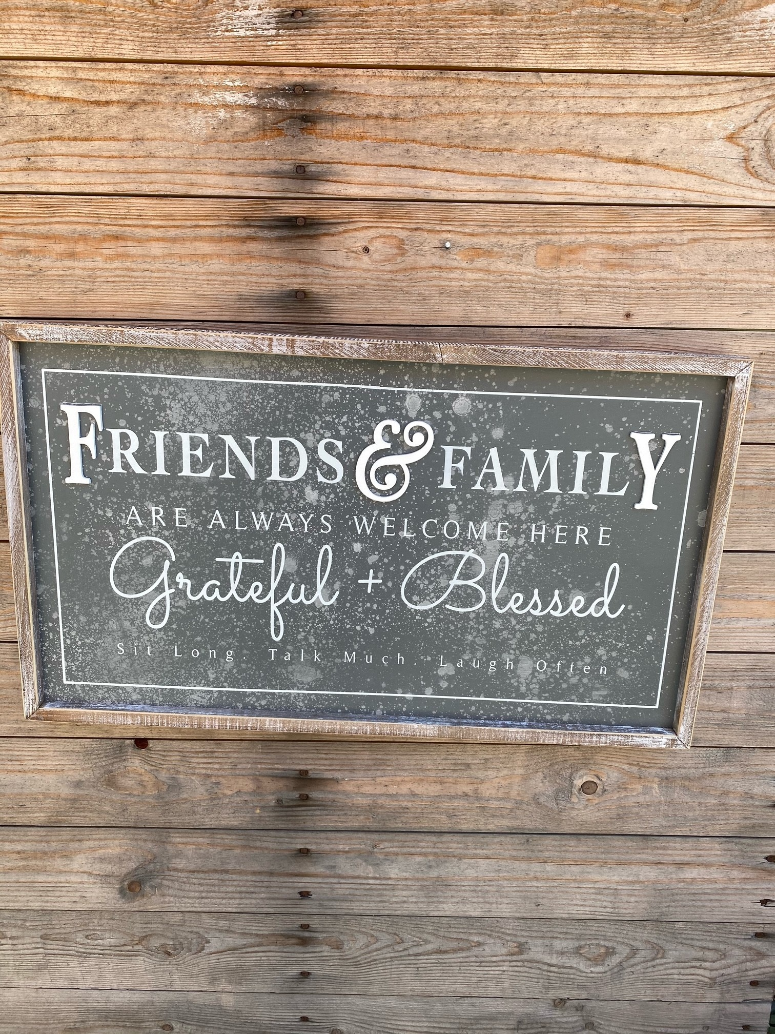 Friends & Family Welcome Here Sign