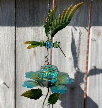 Solar Lighted Garden Friend Wind Chime