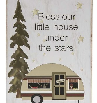 Bless Our Little House Camper Block Sign