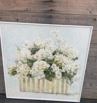 Framed Hydrangea Arrangement Wall Art