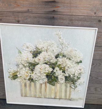 Framed Hydrangea Arrangement Wall Art