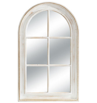 "47"" Distressed Beaded Edge Mirror"