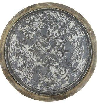 Round Weathered Medallion Wall Art