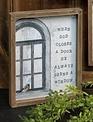 When God Closes a Door Framed Print