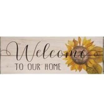 Sunflower Welcome to Our Home Sign