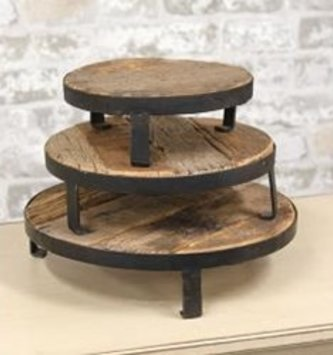 Weathered Wood Metal Riser (3-sizes)