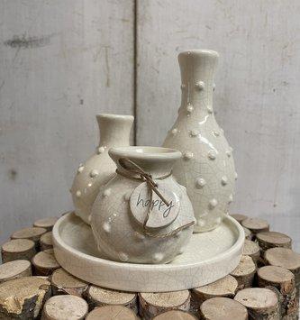 Happy Beaded Multi Bud Vases Tray