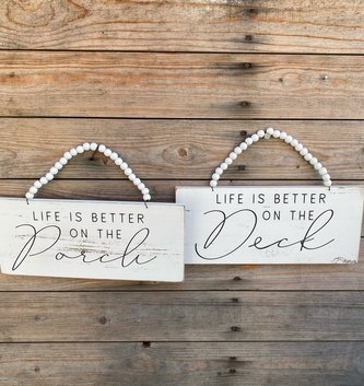 Beaded Life Is Better Sign (2-Styles)