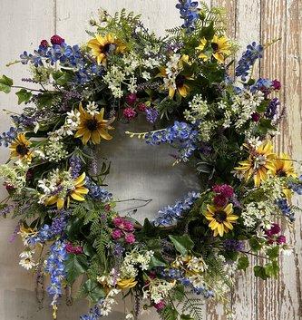 Custom Mixed Wild Garden Wreath