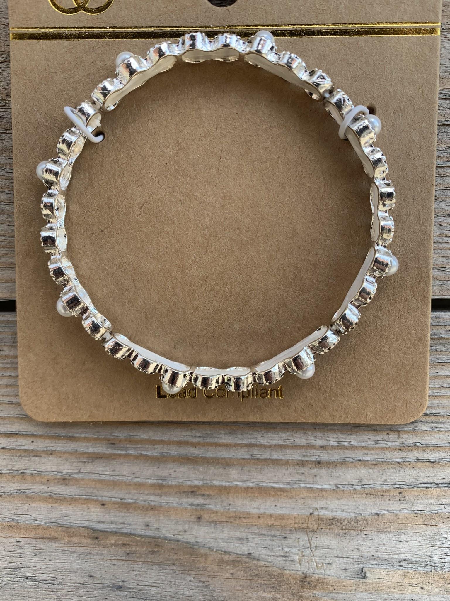 Stretch Beaded Pearl Bracelet