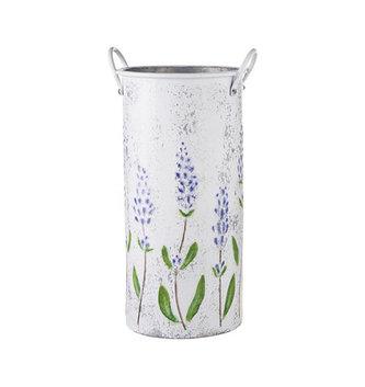 Lavender Embossed Cutting Bucket