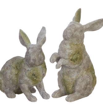 Set of 2 Mossy Rabbits