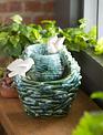 Tabletop Ceramic Double Bird Fountain