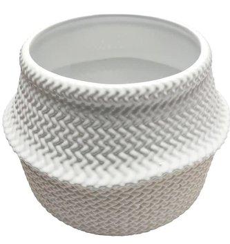 Ceramic Wicker Textured Container
