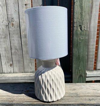 Patterned Cream Mini Lamp