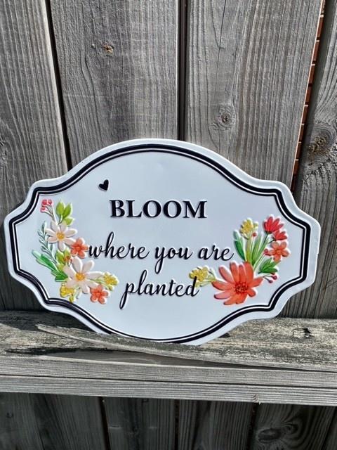 Enamel Floral Sign (3-Styles)