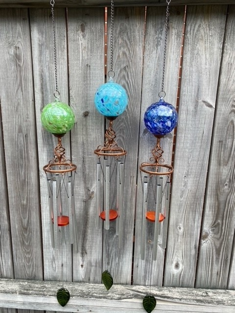 Fused Glass Orb Wind Chime