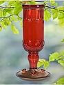 Antique Red Bottle Hummingbird Feeder