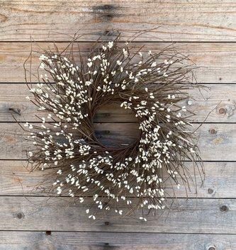 Cream Berry Twig Wreath