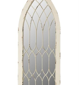 White Metal Cathedral Mirror