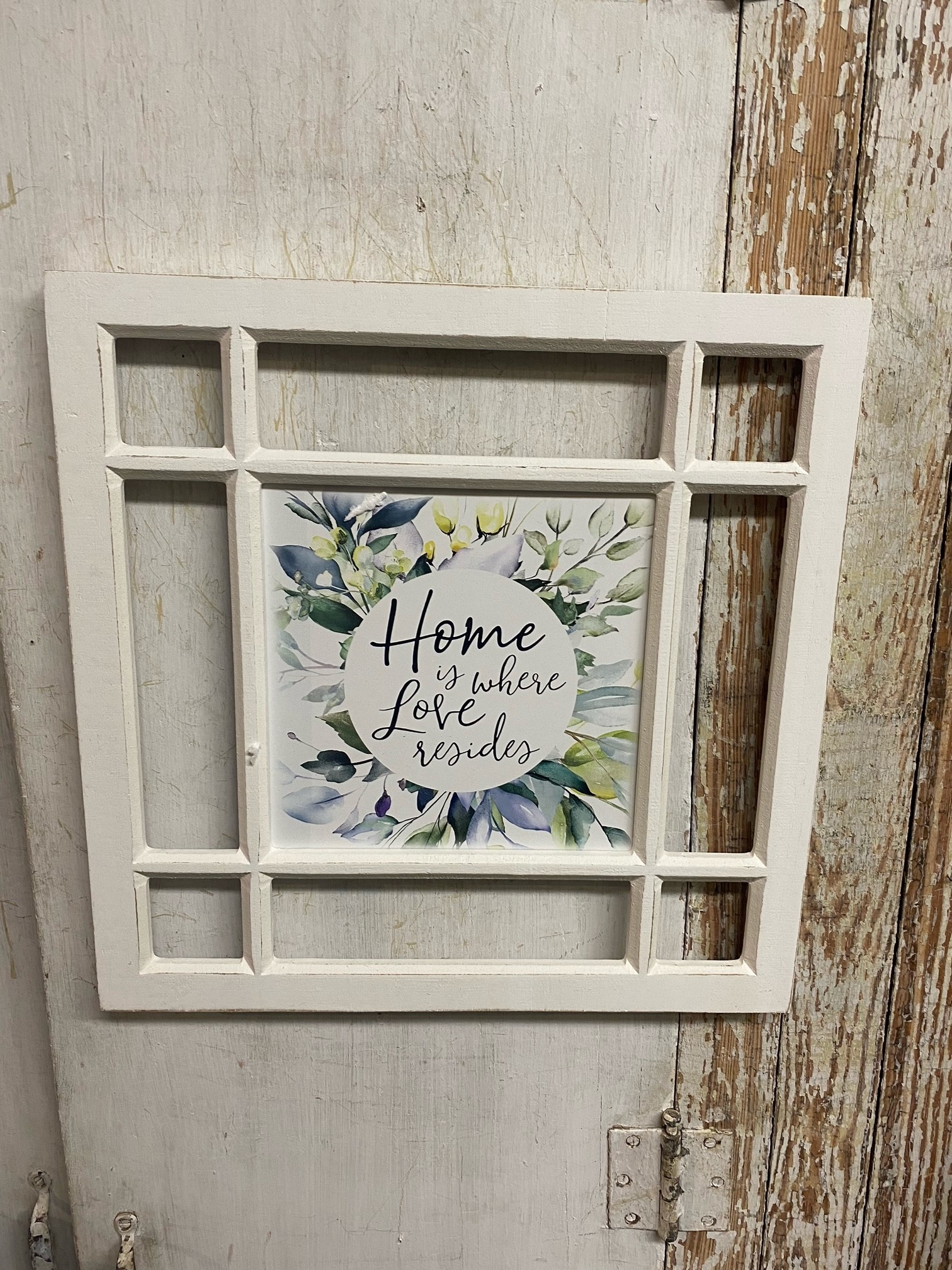 Framed Square Inspirational Wall Art (2-Styles)