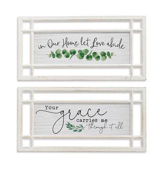 Framed Rectangular Inspirational Wall Art (2-Styles)