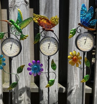 Garden Friends Thermometer Yard Stake (3-Styles)