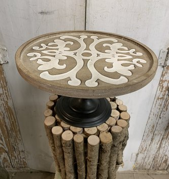 Wooden Scrolled Pedestal (3-sizes)
