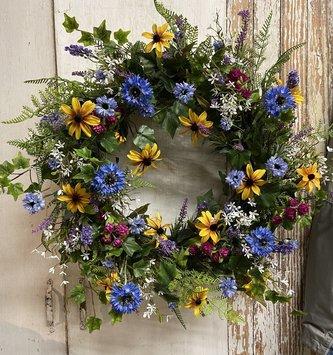 Custom Delicate Wildflowers Wreath