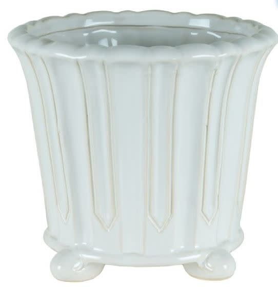 Ceramic Container With Feet (2-Sizes)